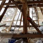 Dacharbeiten an der Kirche Niederschindmaas 2016