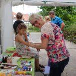 Schminkstand zum Gemeindefest 2016