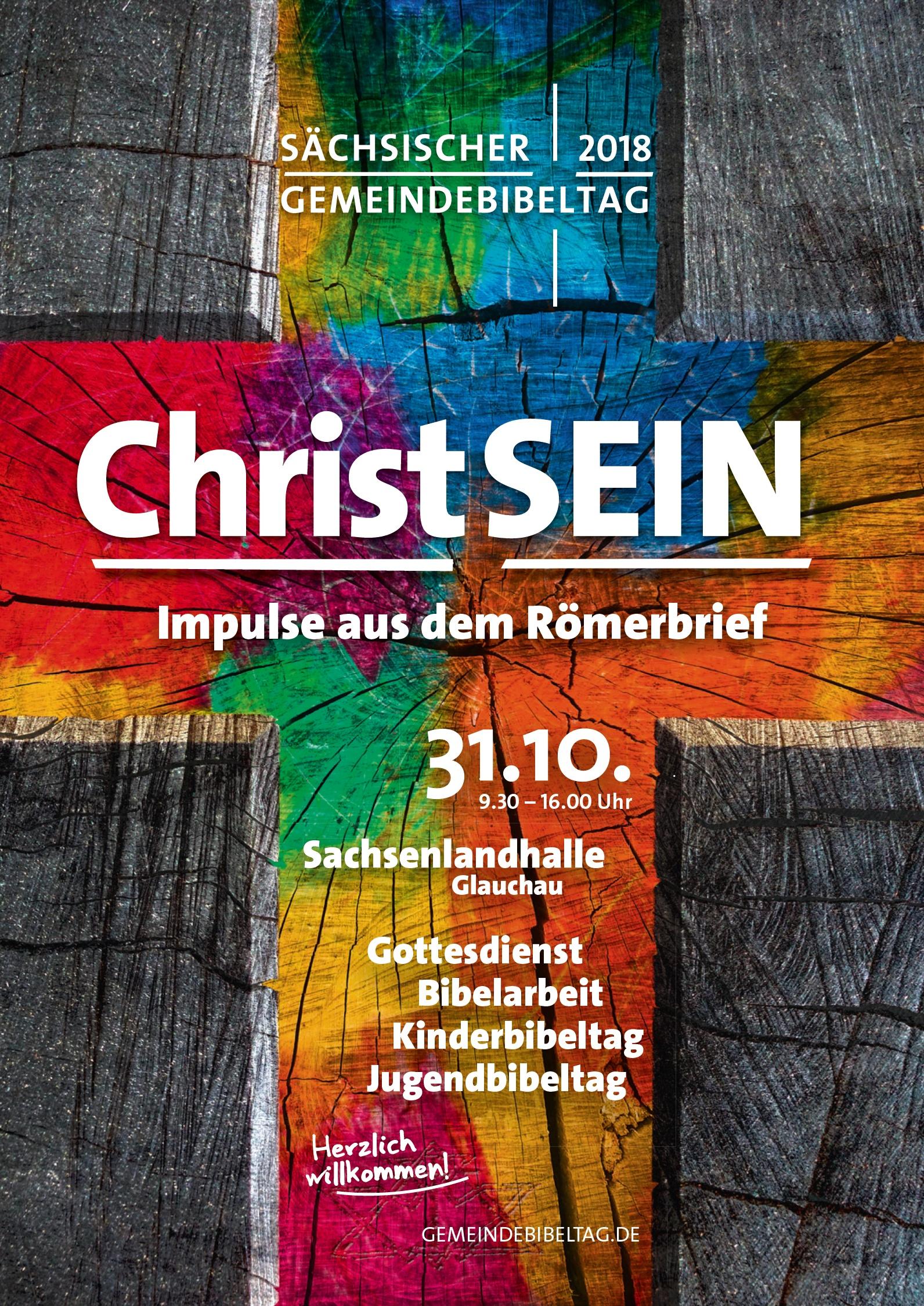 """Sächsischer Gemeindebibeltag 2018 - """"Christsein – Impulse aus dem Römerbrief"""