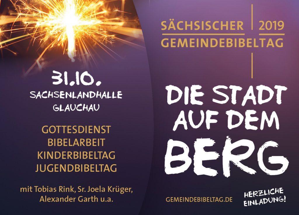 """Sächsischer Gemeindebibeltag 2019 - """"Die Stadt auf dem Berg"""""""