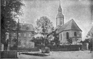 Kirche St. Andreas in Gesau um 1920