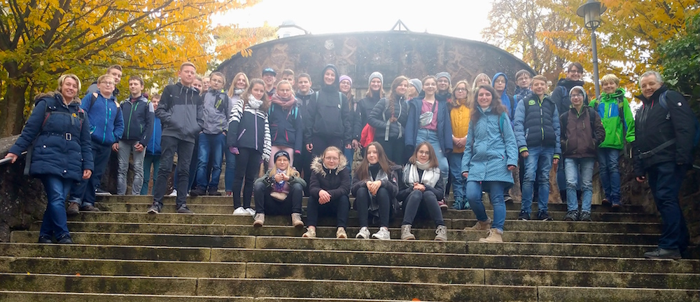 Gruppenfoto Konfirmandenausfahrt 2019 nach Eisenach